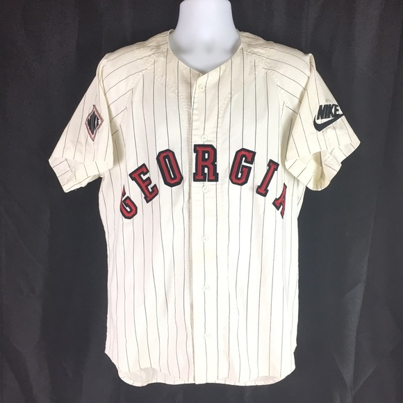 factory authentic 6983d dcb89 NIKE | Circa 1999 UGA baseball jersey L